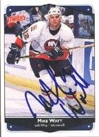 - Mike Watt New York Islanders 1999 Victory Autographed Card. This item comes with a certificate of authenticity from Autograph-Sports. Autographed