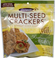 Crunch Master Multi-Seed Crackers Gluten Free Rosemary and Olive Oil (Crunch Master Multi Seed)
