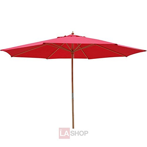 - Oversized 13 Ft Diam. Market Patio Umbrella Outdoor Furniture Red Color 106