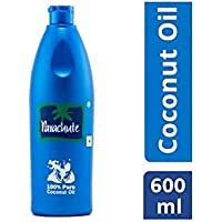 Parachute 100% Pure Coconut Hair Oil Bottle, 600ml
