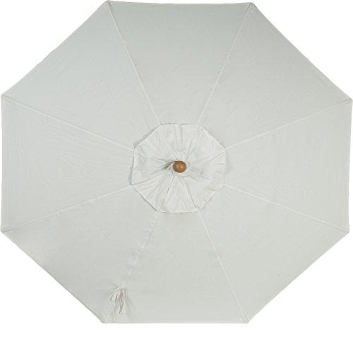 Secret Garden Home Goods 9ft 8 Ribs Market Umbrella Replacement Canopy (Sunbrella- Natural)