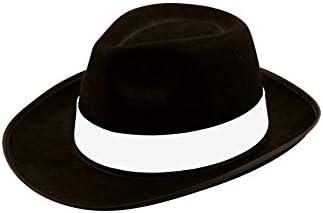 MEN GANGSTER HAT TIE BRACES SET FELT TRILBY AL CAPONE 1920/'s FANCY DRESS PARTY