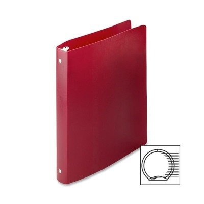 ACCO : Accohide Poly Ring Binder w/35-Pt. Cover, 1in Capacity, Executive Red -:- Sold as 2 Packs of - 1 - / - Total of 2 Each