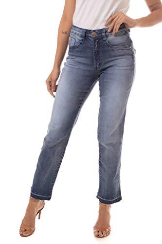Calça Jeans Denuncia High Straight Azul 36