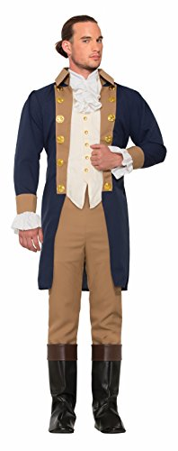 Forum Men's Colonial Officer Patriotic Costume, As Shown, STD (Colonial Costumes For Men)