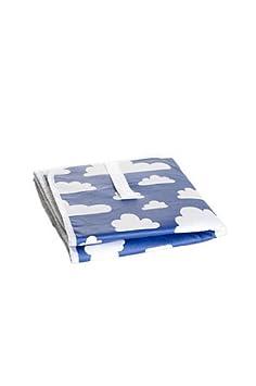 Farg Form faltbar Still mit Cloud Print blau