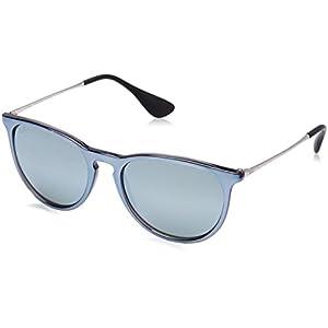 Ray-Ban Erika Non-Polarized Iridium Aviator Sunglasses, Grey Mirror Flash Grey, 54 mm