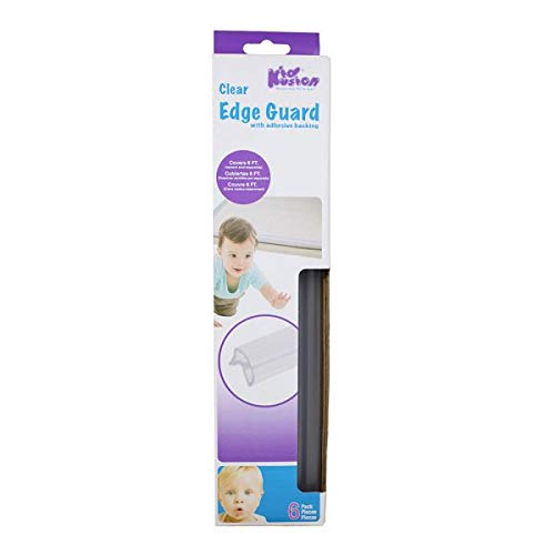Kidkusion Clear Edge Guard | Table and Edge Bumpers | Clear | 6′