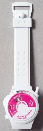 Daiya Wrist Golf Score Counter Pink / White