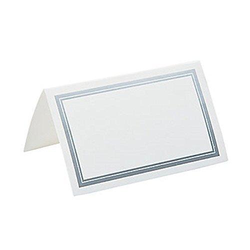 FX/OT 50 ~ Silver-Trim Place Cards ~ Size: 3