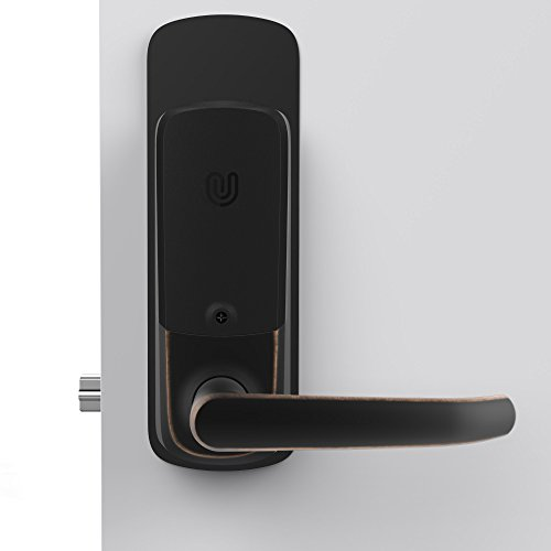 ULTRALOQ UUL-UL3-DCP-AB 5-in-1 Keyless Entry Electronic Door Handle, Accessory - Deadbolt Cover Plate, Black