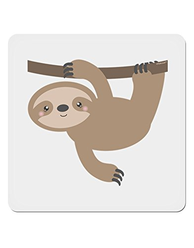 Tooloud Cute Hanging Sloth 4X4 Square Sticker - 4 Pack -