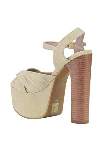 Jeffrey Campbell Women's MCGLCAT03189E Beige Suede Sandals KnA87c2Khg