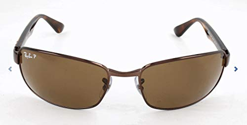 Ray-Ban Men RB3478 014/57 Polarized Sunglasses Brown Frame/Crystal Brown Lens (Rayban Aviators Sale)