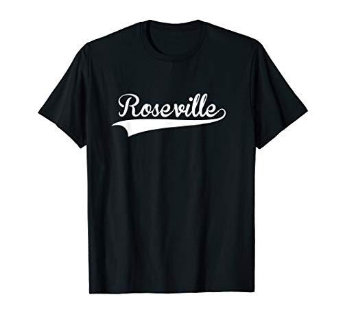 ROSEVILLE Baseball Softball Styled T-Shirt]()