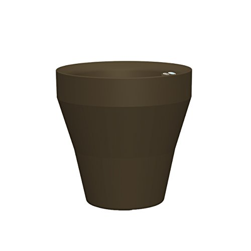 (Crescent Garden Self Watering Rim Planter with TruDrop System, 18