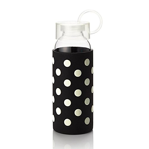 Kate Spade New York Water Bottle, Le Pavilion (black & White Dots), , Black White Dots