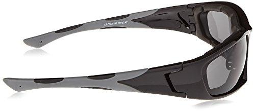 c6947ceaa9 Crossfire Safety Glasses MP7 Dark Smoke Anti-Fog Lens Shiny Black ...