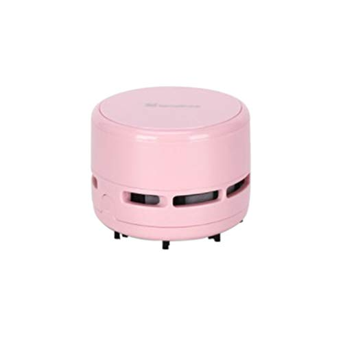 Desktop Vacuum,Mini Table Vacuum,Super Quiet Cordless Dust Cleaner,Portable Keyboard Sweeper, For Home,Office,Car,Hairs,Laptop,Piano Battery operated (Pink)