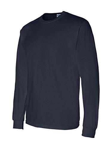 Gildan Men's 5.5 oz., 50/50 Long-Sleeve T-Shirt, Navy, ()