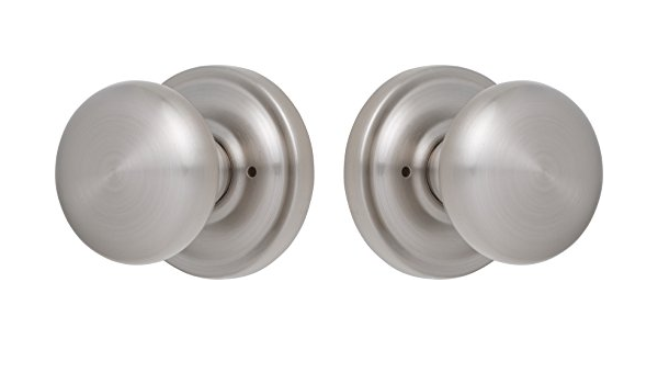 Rockwell Premium Solid Brass Privacy Sandhill Knob Set Door Hardware Door Handles Exterior Door Handle In Brushed Nickel With Concealed Screws Doorknobs Amazon Com