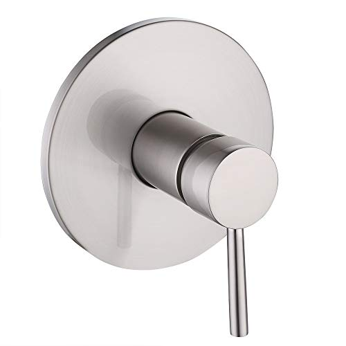 KES BRASS Anti-Scald Pressure Balance Rough-in Valve with Trim (handle and face plate) Set Brushed Nickel, LB6726-2 ()