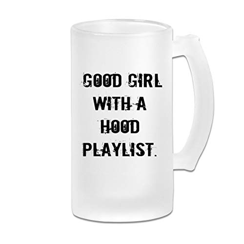 Negi Good Girl with A Hood Playlist 16 Oz Frosted Glass Stein Wine Beer Mug Wedding Gift -