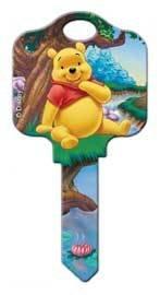 DISNEY WINNIE the POOH HOUSE KEY SCHLAGE SC1 (Pooh Key)