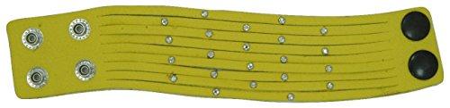 30 2018 through Bracelet Multi Womens Leather Strand Yellow LaGaksta 9 Blowout wCp48nq