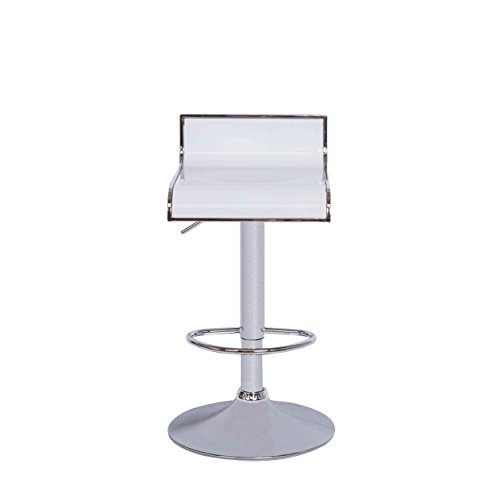 Vogue Furniture Direct Vogue Furniture White Acrylic w/Chrome Outline Swivel/Hydraulic Bar Stool and Chrome Tearsdrop - White Acrylic Bar Stool