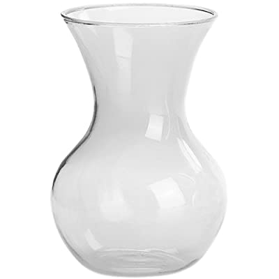 """Syndicate Sales 7"""" Sweetheart Vase, Clear"""