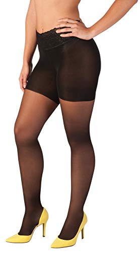 - Hipstik Women's Sheer Pantyhose | Comfortable Lace Top | Low-rise Sits On Hip