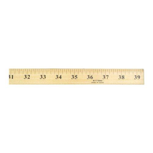 Yardstick Ruler (Charles Leonard Wooden Yardstick Ruler, Natural Wood, 36 Inches (77590))