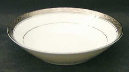 Noritake Crestwood Platinum Coupe Soup Bowl, Fine China Dinnerware - Fine China Coupe Soup Bowl