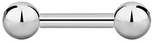 (14g 8mm Internally Threaded Titanium Straight Barbell Body Piercing Jewelry, 4mm Balls)