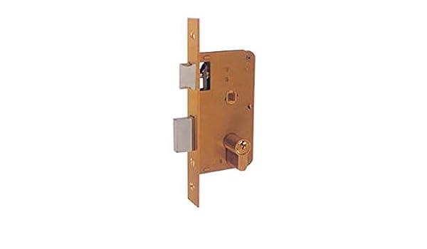 Ezcurra M38871 - Cerradura embutir hierro latonado 4000-60: Amazon.es: Bricolaje y herramientas