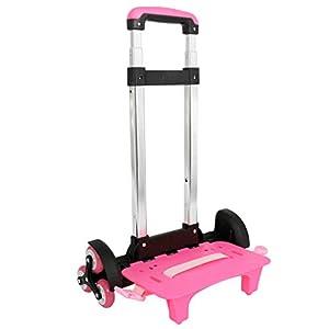Carrello per zaino - Carrello con ruote Carrello per carrello pieghevole per carrello in alluminio (rosa, 6 ruote) 5 spesavip