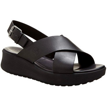 Timberland Women's Los Angeles Wind Slingback Black Full Grain 7.5 B US