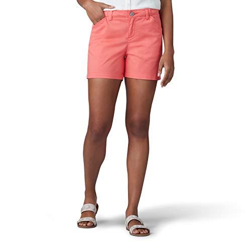 - LEE Women's Regular Fit Chino Short, Geranium, 2