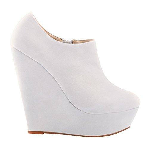 Low Donna Moda WanYang Corti Stivali Moda Stivaletti Ragazza Scarponcini Alta Boots boots Bianca Stivaletti da Autunno Adulto Zeppa dqtt1Y