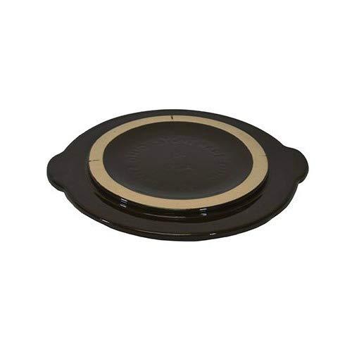 Ohio Stoneware 11624 3 Gallon Crock Cover, Medium, Brown,
