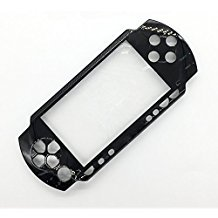 (Front Face Plate Faceplate Shell Case Cover Replacement For Sony PSP 1000 1001 Fat (Black))