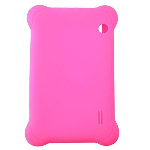 Silicone Rubber Case Cover for 7'' 7 inch Android Capacitive Table PC #01 hot pink