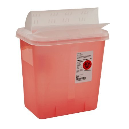 2 Gallon Horizontal Sharp Container, Red by Kendall/Covidien