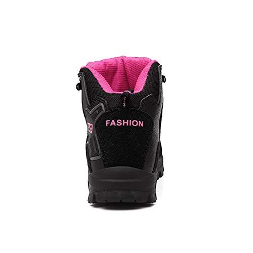 Randonne Marche Tqgold Hommes Bottes De Noir Trekking En Hauteur Rose Femmes Basse Air Chaussures Plein Impermable FBqxFS