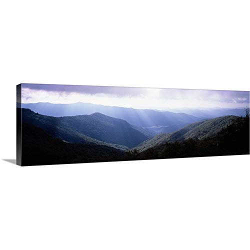 Ridge Furniture Blue (Premium Thick-Wrap Canvas Wall Art Print Entitled Sunbeams Falling on The Mountains, Blue Ridge Mountains, North Carolina, 60
