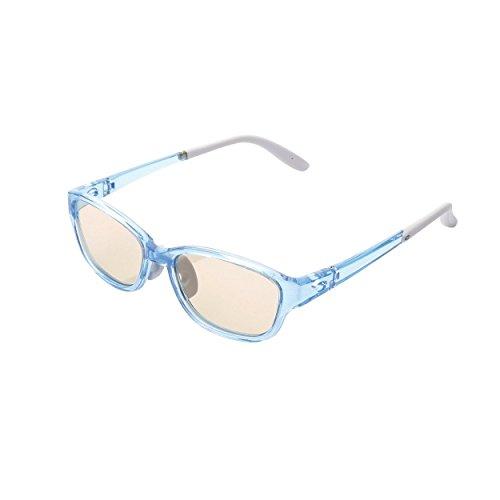 Brown Grad Lens - ELECOM Blue Light cut eyeglasses for kids with Brown lens for upper grades [Blue] G-BUB-W02LBU (Japan Import)