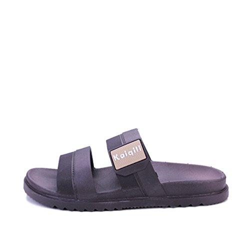 Hishoes - Zapatillas de estar por casa de poliuretano para hombre marrón
