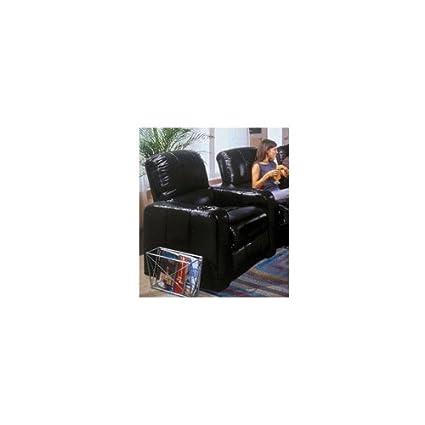 Berkline 45001 Series Black Leather Recliner