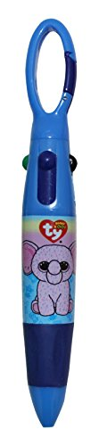 Ty Beanie Boos Mini Clip Pen with 4 Ink Colors, Character Design Will Vary, 1 Pen (841-5)
